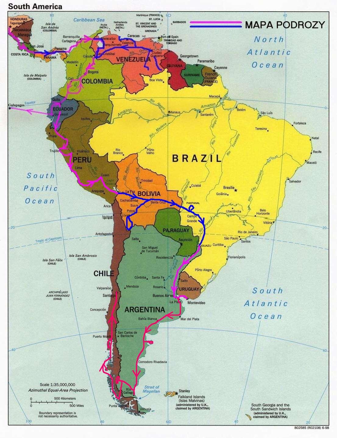 Mapa Ameryki